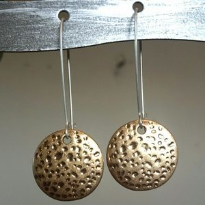 Gold Sun Disc Earrings